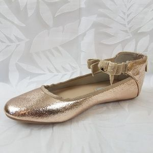 NEW Kenneth Cole New York Rose Bow Ballet Flats